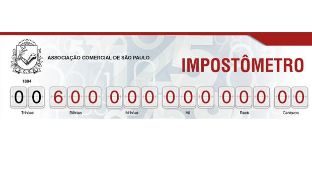 Impostômetro registra R$ 600 bilhões