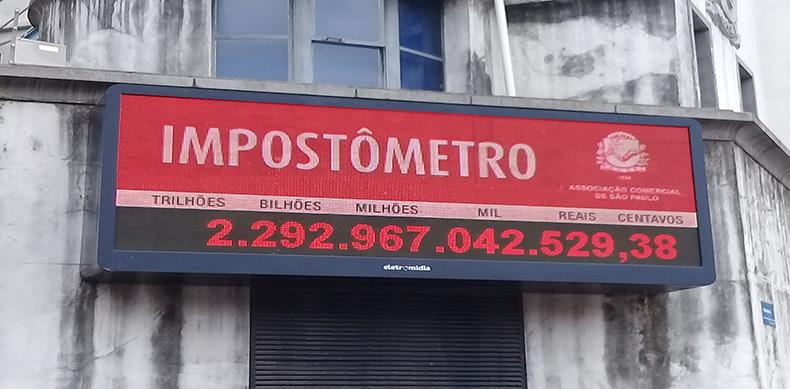 Impostômetro da ACSP bate R$ 2,3 trilhões nesta quinta-feira