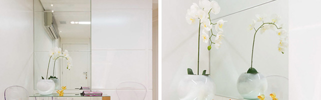 decorar sua clinica flores orquideas consultorio