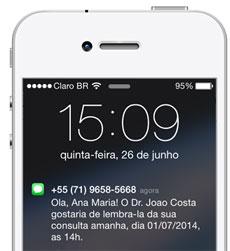 lembrar<em>consulta</em>sms<em>no</em>celular