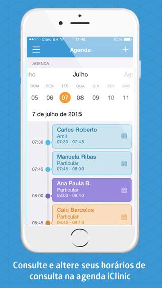 Agenda iClinic app