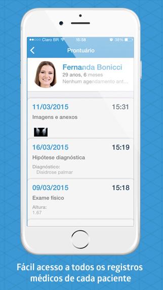 Prontuário iClinic app