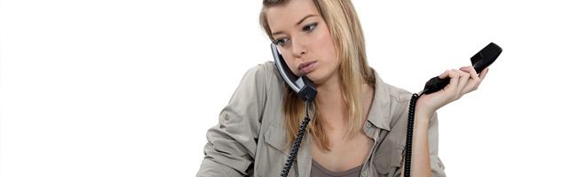 Secretárias em ligação e ocupadas