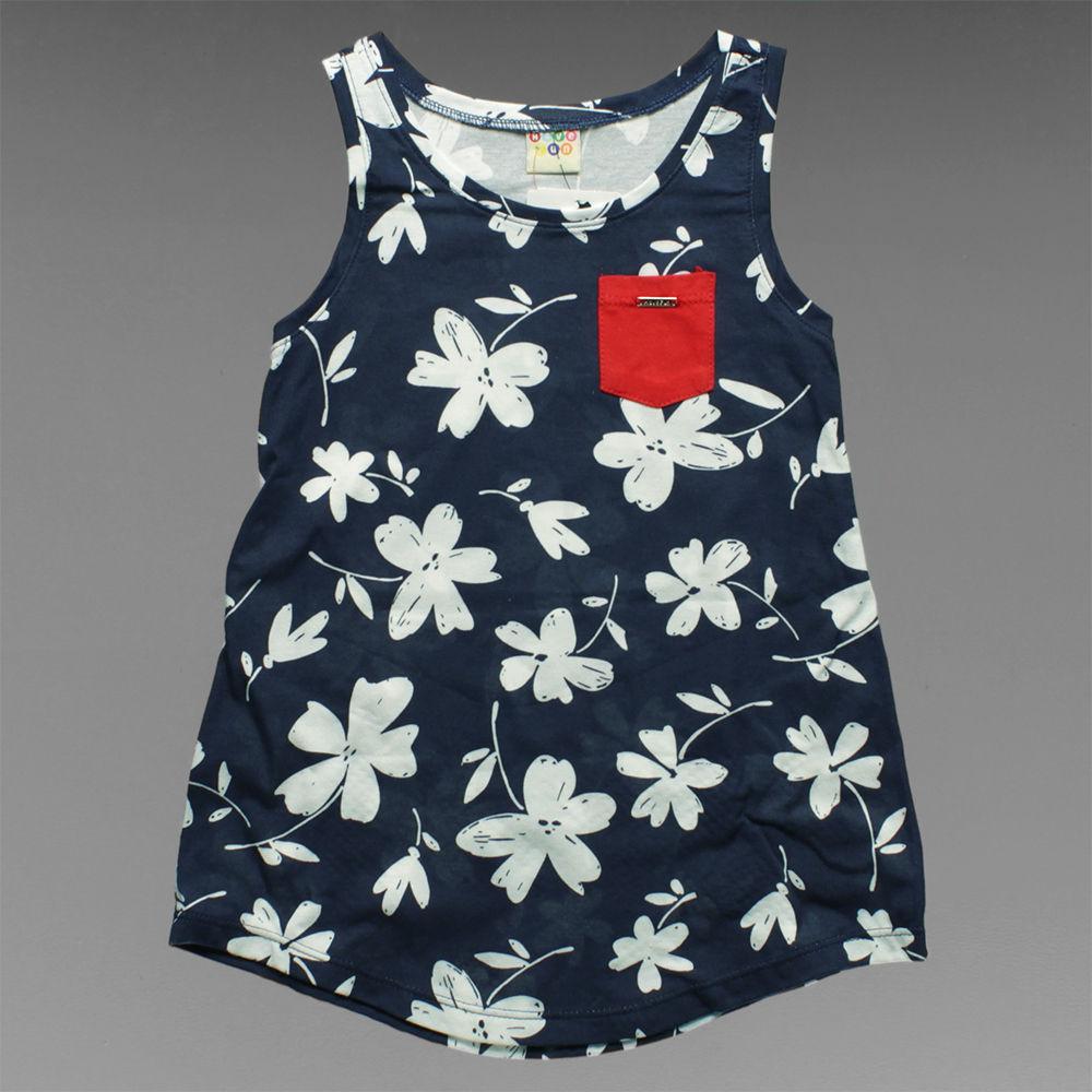 Camiseta Regata Floral Tam. 10 e 12 Have Fun - 18565 - Alô Bebê 530d56eca02