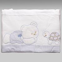 cde303d387 Jogo de Lençol para Berço Urso Tartaruga - JL032 - Azul