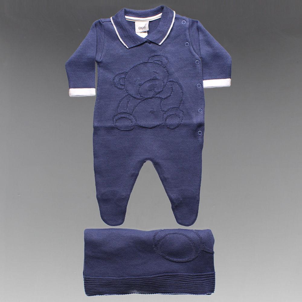 Saída Maternidade Urso Tam. RN ao M - 8410 - Alô Bebê c612f404d67