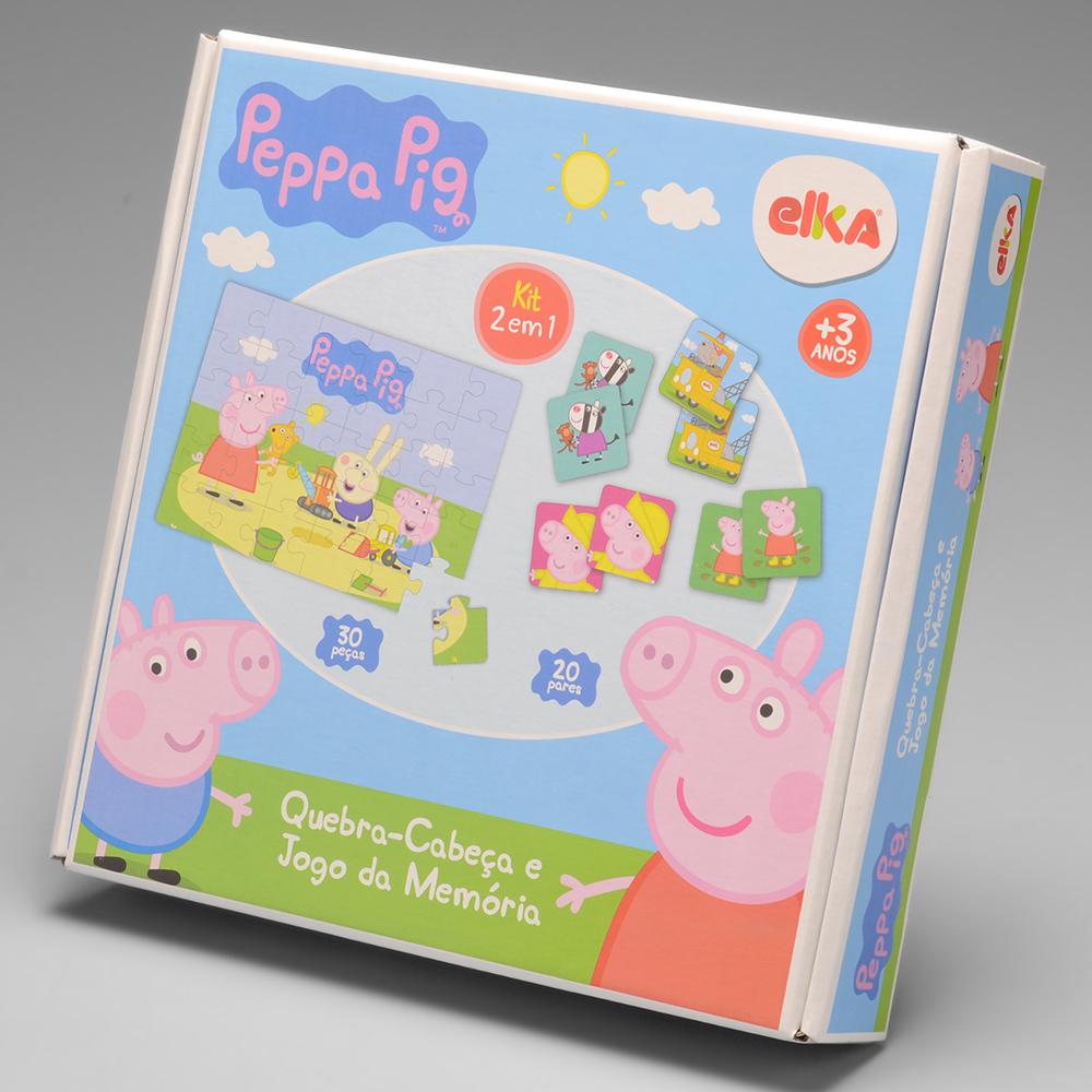Quebra Cabeca E Jogo Da Memoria Peppa Pig 1062 Alo Bebe