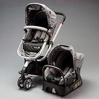 Carrinho com Bebê Conforto Mobi Travel System - Grey Denin Silver 939d7234680