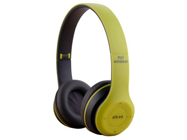 Auriculares P47 inalámbricos con Bluetooth - Amarillo al mejor precio solo en loi