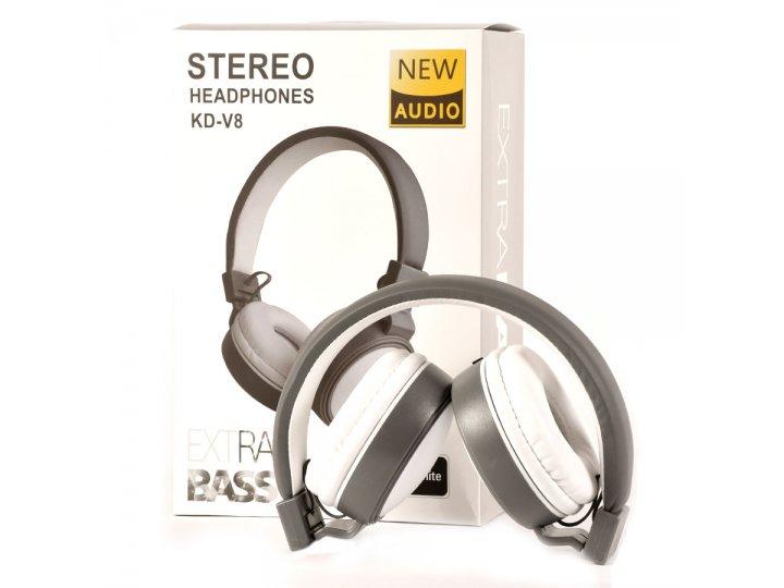 Auriculares Plegables Extra Bass con cable plano Blanco al mejor precio solo en LOI