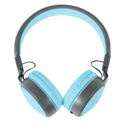 Auriculares Plegables ExtraBass con cable plano Celeste al mejor precio solo en LOI