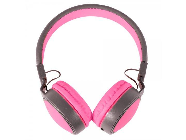 Auriculares Plegables Extra Bass con cable plano Rosa al mejor precio solo en LOI