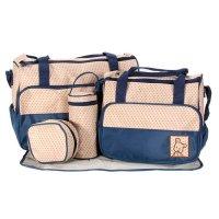 Set de bolsos maternales - 5 PIEZAS Azul