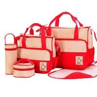 Set de bolsos maternales - 5 PIEZAS Rojo al mejor precio solo en loi