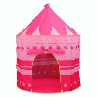 Carpa Castillo Infantil con Mosquitero Color Rosa al mejor precio solo en loi