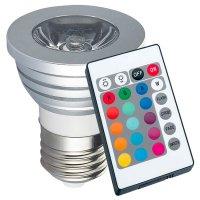 Lámpara LED RGB 16 Colores regulable con control remoto al mejor precio solo en loi