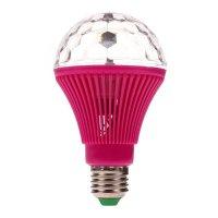 Lámpara de colores giratoria LED de 360 grados Rosada al mejor precio solo en loi
