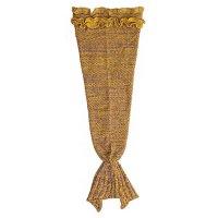 Manta Cola de Sirena Grande Tejida - Amarilla al mejor precio solo en LOI