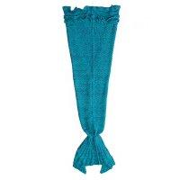 Manta Cola de Sirena Grande Tejida - Verde y Azul al mejor precio solo en LOI