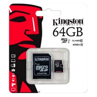 MicroSD Kingston de 64GB Clase 10 con adaptador SD al mejor precio solo en loi