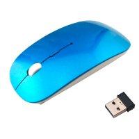 Mouse Ultra Slim Inalámbrico 2.4Ghz Azul al mejor precio solo en loi