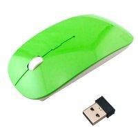 Mouse Ultra Slim Inalámbrico 2.4Ghz Verde al mejor precio solo en loi