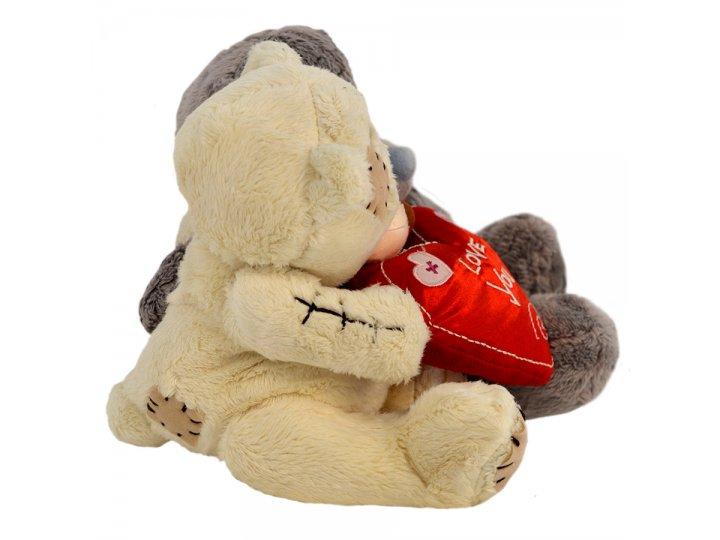 Peluche Doble con Corazón Love You 20cm HJ221-1 al mejor precio solo en loi