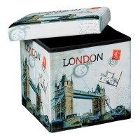 Puff Baúl Plegable con Estampado - Londres al mejor precio solo en LOI