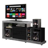 Rack Porto móvil TVs hasta 47'' con Mini Bodega Gris al mejor precio solo en loi