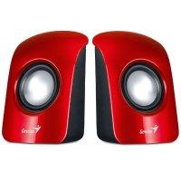 Parlantes Genius Estero USB Rojos