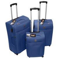 Set de 3 Valijas Expandibles 4 Ruedas Swiss Armor Azul al mejor precio solo en LOI