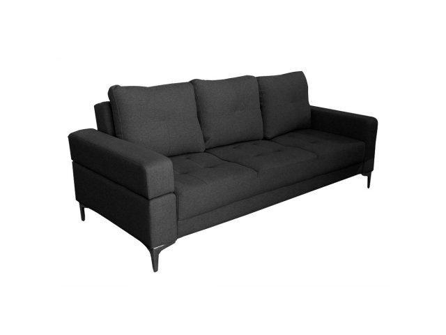 Sofa Cama Empoli de 2 Plazas tapizado en Lino Negro al mejor precio solo en loi