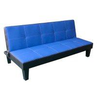 Sofá Cama Empoli de 2 Plazas símil cuero Azul al mejor precio solo en loi