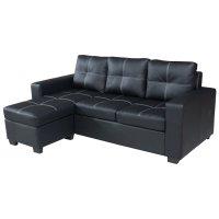 Sofá EMPOLi de 3 cuerpo con Chaise color Negro al mejor precio solo en LOI