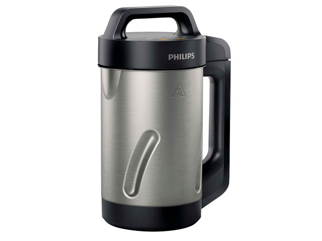 Sopera Soup Maker Philips 1.2L + Recetario - Negra al mejor precio solo en LOI