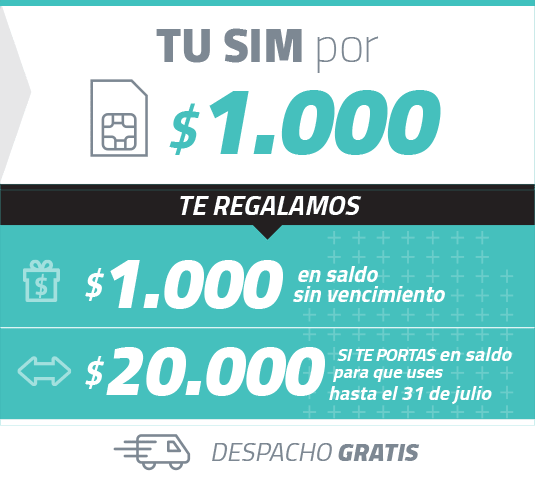 Simple Móviles - Simcard $1.000