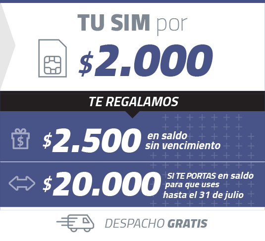Simple Móviles - Simcard $2.000