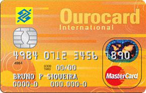 Cartão de Crédito Ourocard Banco do Brasil Universitário MasterCard Internacional