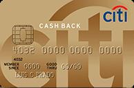 Cartão de Crédito Citi Cash Back MasterCard Gold