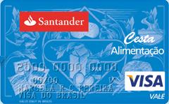 Cartão Santander Cesta Alimentação Visa Vale