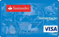 Cartão Santander Natal Alimentação Visa Vale