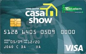 Cartão de Crédito Casa Show Visa