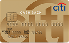 Cartão de Crédito Citi Cash Back Gold Visa