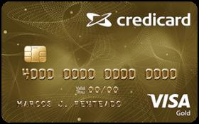Cartão de Crédito Credicard Visa Gold