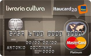 Cartão de Crédito Livraria Cultura Itaucard 2.0 Platinum MasterCard