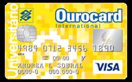 Cartão de Crédito Ourocard Banco do Brasil Universitário Visa International