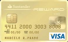Cartão de Crédito Santander Reward Visa Gold
