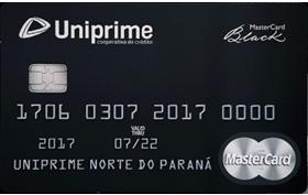 Cartão de Crédito Uniprime Black Mastercard