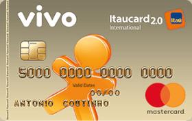 Cartão de Crédito VIVO Itaucard 2.0 Internacional Mastercard Pós