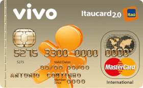 Cartão de Crédito VIVO Itaucard 2.0 Internacional Mastercard Pré
